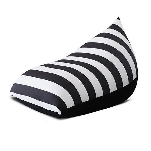 פוף שפיץ - פסים שחור לבן