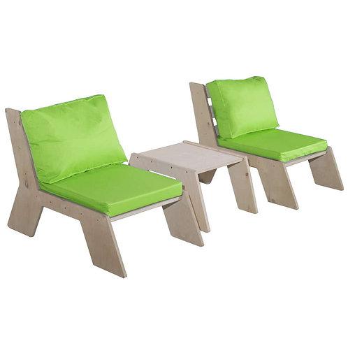 TimberChair סט יחיד + שולחן קטן