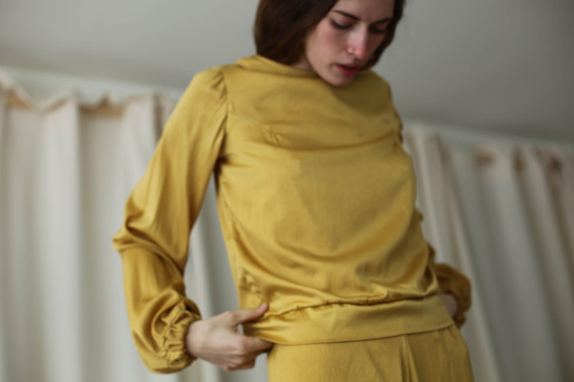 forager top / plant-dyed silk
