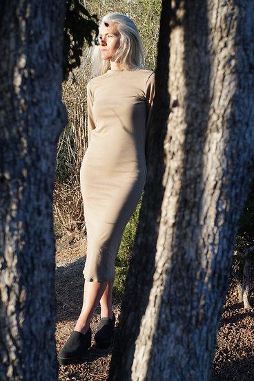 pir dress in organic cotton baby rib