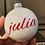 Thumbnail: Personalisierte Christbaumkugel - einzeilig