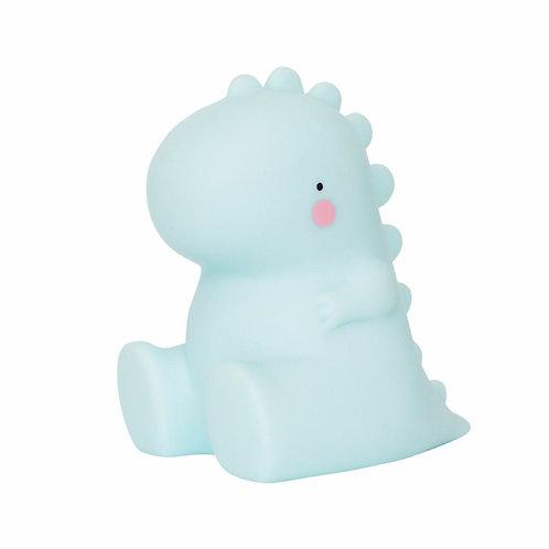A Little Lovely Company - kleines Nachtlicht - T-Rex - hellblau