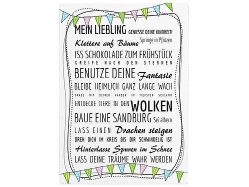 Holzschild Shabby - Mein Liebling
