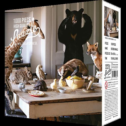 Kylskapspoesi - Kitchen Animals - unkultige Puzzle waren geste
