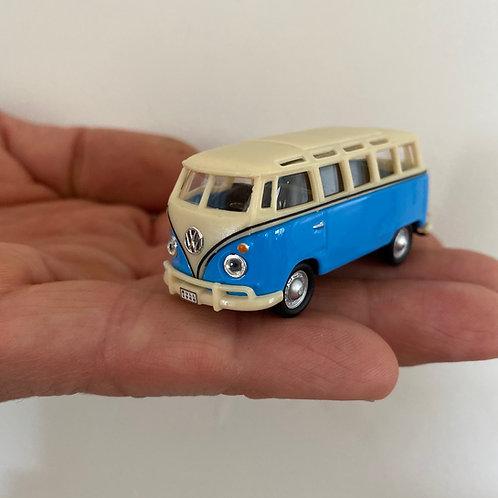 Bulli - Auto - Magnet - Kühlschrank Magnet - blau