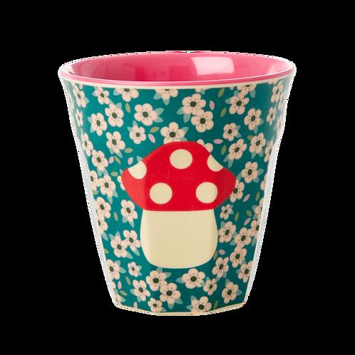rice - Melamine Cup - mushroom - Medium - Becher