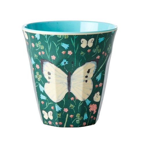 rice - Melamine Cup - Butterfly Green - Medium - Becher