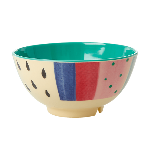 Kopie von rice - Melamin Bowl - LOUISES STRIPE  Print