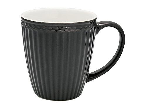 GreenGate - Stoneware-Mug Henkelbecher  Alice dark grey