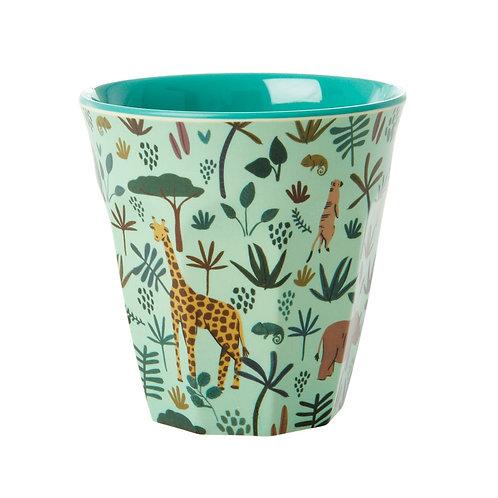 rice - Melamine Cup - Jungle Print - Medium - Becher