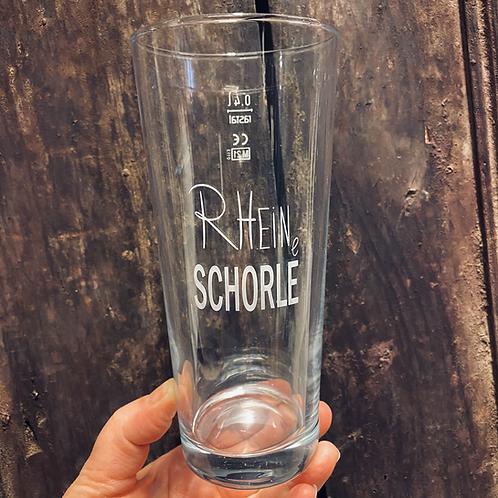 Glas - RHEINe SCHORLE - Weinschorle -  Schoppenglas