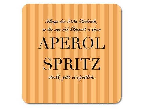 INTERLUXE LED Untersetzer - Solange der Strohhalm Aperol Spritz