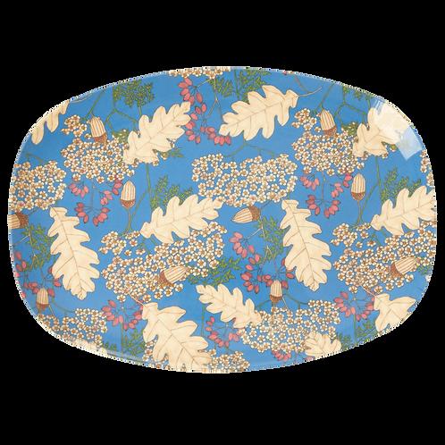 rice - ovaler Melamin Teller - AUTUMN AND ACORNS  Print