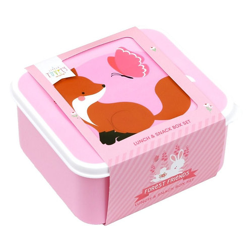 Lunch & snack box set - Waldfreunde - 4er Set