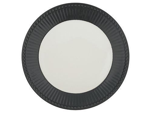 GreenGate - Frühstücksteller Alice - dark grey - grau