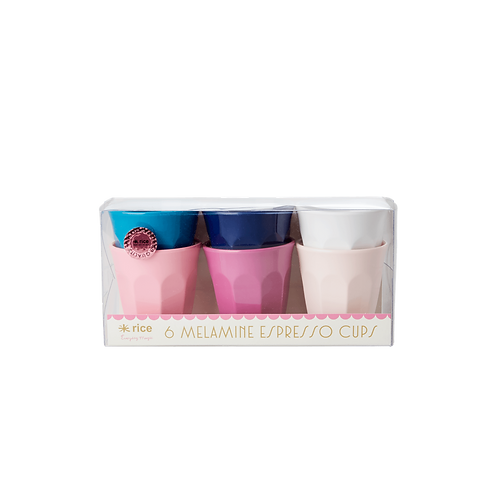 rice Melamine Espresso Cups - 6er Set