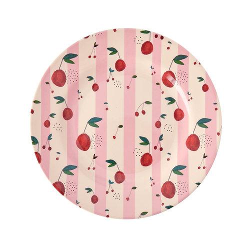 rice - Runder Melamin Teller - Cherry Print