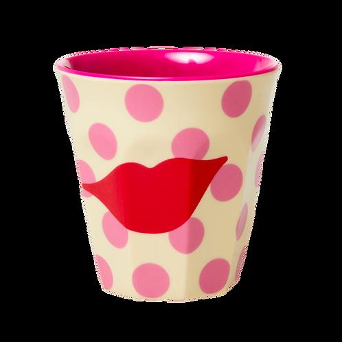 rice - Melamine Cup - Kiss Print - Medium - Becher