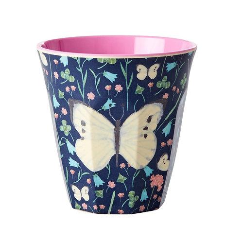 rice - Melamine Cup - Butterfly Blue - Medium - Becher