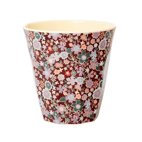 rice - Melamine Cup - Floral  Print - Medium - Becher