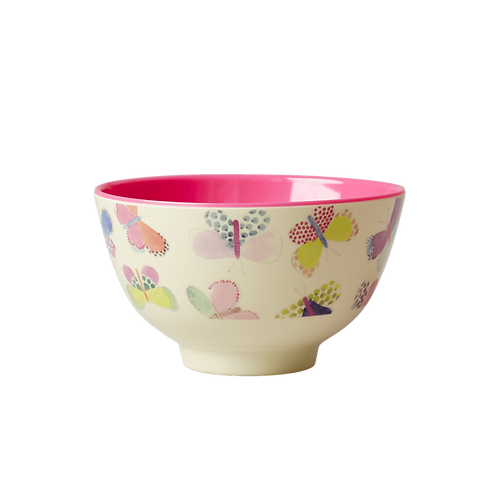 rice - Small Melamine Bowl - Butterfly