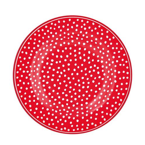GreenGate - Teller - Dot red - Frühstücksteller - sale
