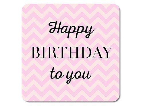 INTERLUXE LED Untersetzer - Happy Birthday pink