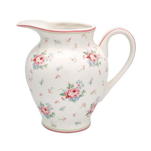 Greengate - Milchkännchen - kleine Vase - Marley White - Porzellan