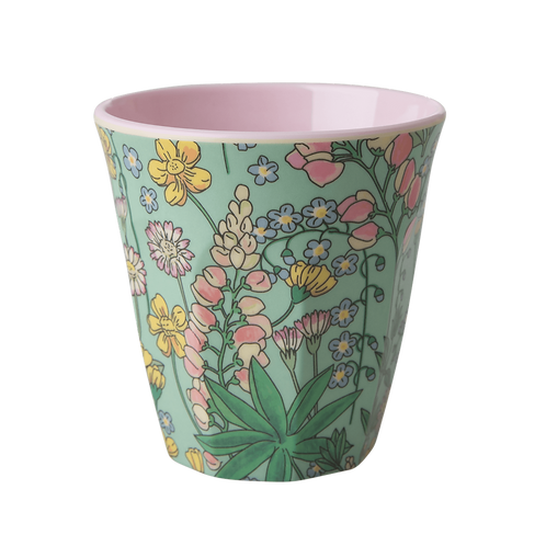 rice - Melamine Cup - Lupinen Print - Medium - Becher