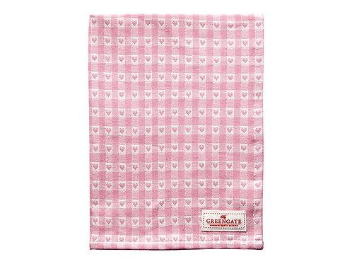 GreenGate - Geschirrtuch - Tea towel Heart petit pale pink