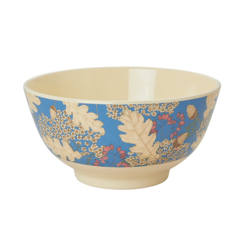 rice - Melamin Bowl - AUTUMN AND ACORNS Print