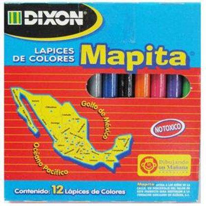 Mapita lápices de colores 12 pz.