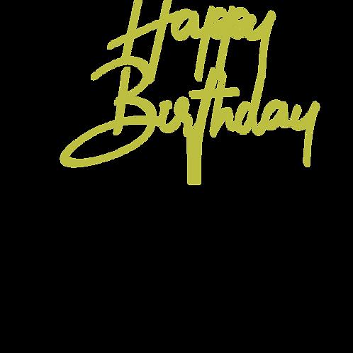 Happy Birthday 1 Topper