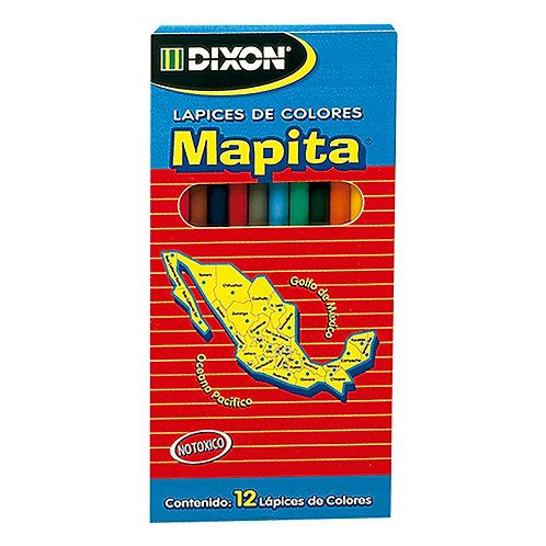 Mapita lápices de colores largos12 pz.