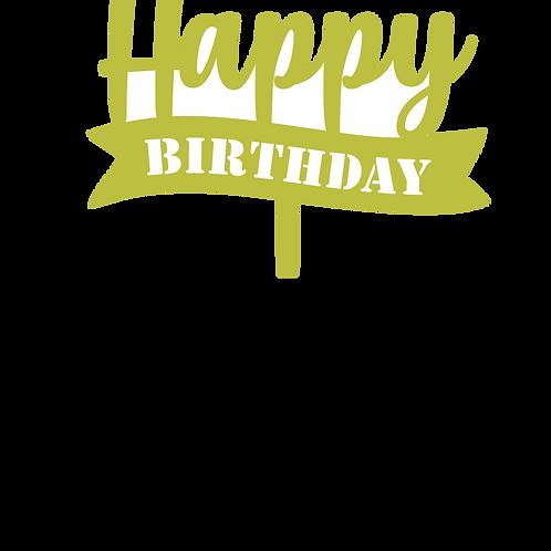 Happy Birthday 2 Topper