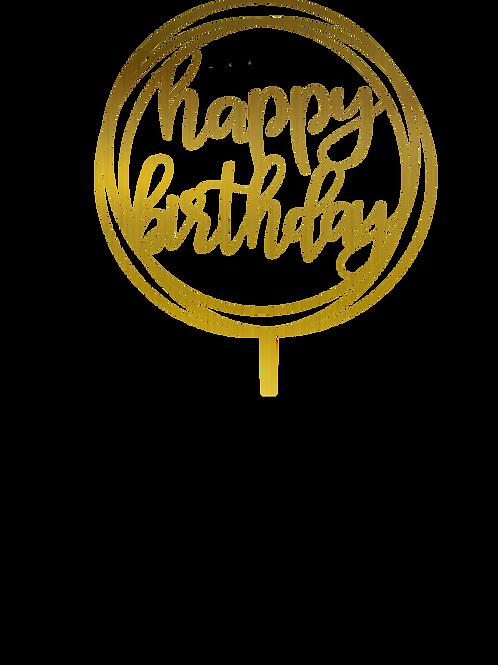 Happy birthday 4 Topper