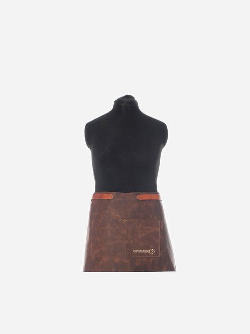 Barista Lederschürze kurz mit Taschen