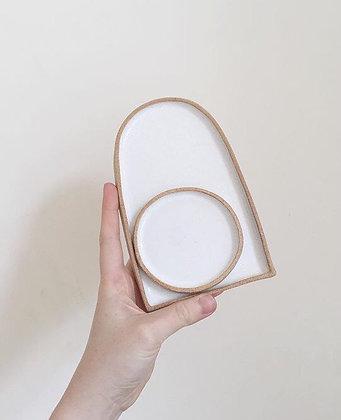 Small 2 piece platter