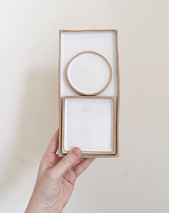 Medium 3 piece platter