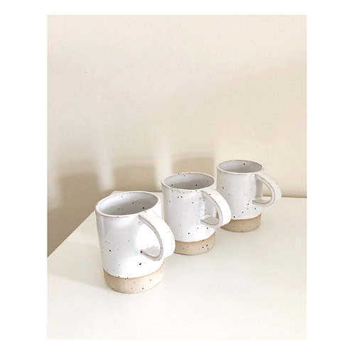 Flecked white cup
