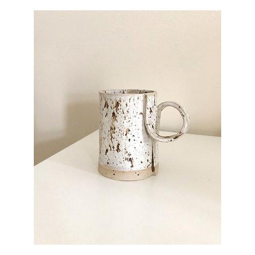 Curled handle mug