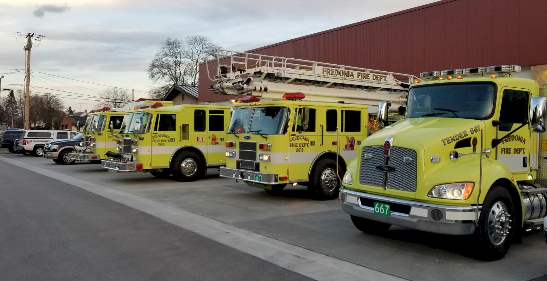 Fire Trucks in daylight