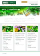 O'Keefe Controls Co. Precision Orifices Landing Page