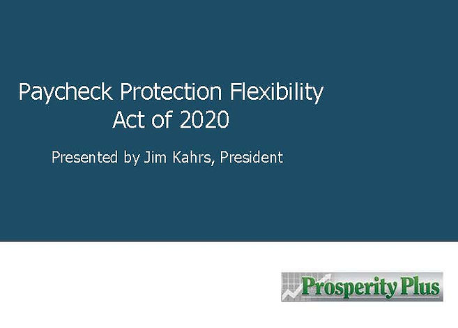 Paycheck Protection Flexibility Act of 2
