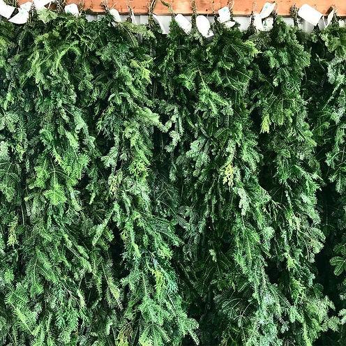 evergreen garland, evergreen roping, fir garlad, pine garland, railing greenery, evergreen, real tree