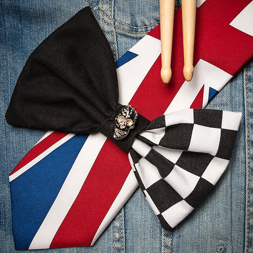 OLD SKOOL CHECKERBOARD DOG BOW TIE