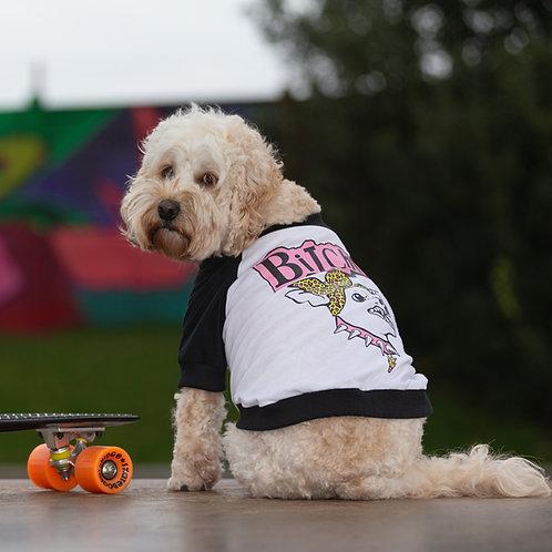 PINK BiTchIE CHIHUAHUA RAGLAN DOG T-SHIRT