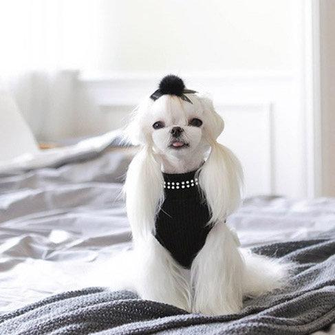BLACK BLING BLING DOG TANK
