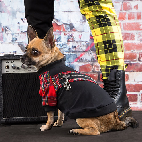PUNKS NOT DEAD RED DOG SWEATSHIRT