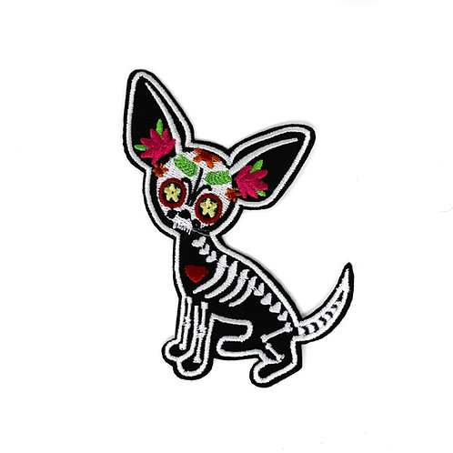 DAY OF THE DEAD CHIHUAHUA PATCH